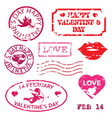 happy valentines day grunge stamp vector image vector image