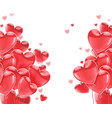 happy valentines day pink flying glossy balloons vector image