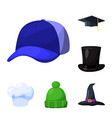 headgear and napper symbol vector image vector image
