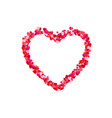 heart frame romantic decoration element valentine vector image vector image