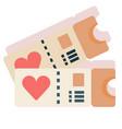 honeymoon tickets flat vector image vector image