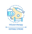 Infusion therapy concept icon