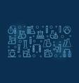 laboratory equipment outline blue modern vector image