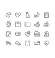 line fitness icons vector image vector image