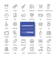 line icons set supermarket vector image