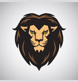 lion head mascot logo design art vector image