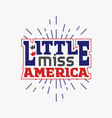 little miss america vector image vector image