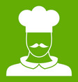 male chef cook icon green vector image vector image