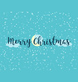 merry christmas logo with clouds and moon vector image