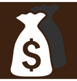 Money Bags Flat Icon vector image