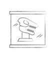 museum dinosaur skeleton in urn glass vector image vector image