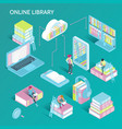 online library isometric set vector image