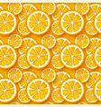 orange fruit seamless pattern vector image vector image