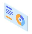 pie chart icon isometric style vector image