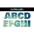Polygon insulated colorful alphabet font style vector image