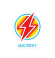 power energy lightning - concept business logo vector image vector image