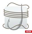 Realistic fishing hook with rope vector image