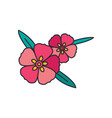 rock rose icon cartoon style vector image