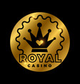 royal casino golden design vector image