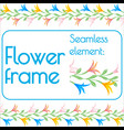 seamless brush for a photo frame of flowers vector image vector image