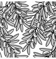 seamless olive background black and white vector image vector image
