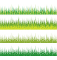 set of grass vector image