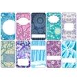 Set of ten beautiful winter cards vector image vector image
