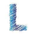 sketched letter L vector image