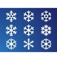 snowflake on blue background vector image vector image