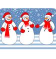 snowmen trio vector image vector image