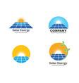 Solar panel logo icon natural energy