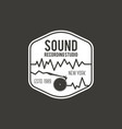 sound recording studio label badge vector image