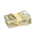 Stack of money vector image