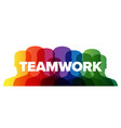 teamwork lettering template made from people vector image vector image