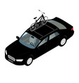 transporting bicycles on rack bikes on trunk vector image