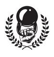 vintage bodybuilding logotype template vector image