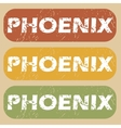 Vintage Phoenix stamp set vector image vector image