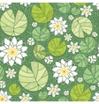 Water lillies seamless pattern background vector image