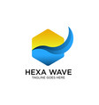wave logo design vector image