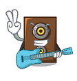 with guitar speaker mascot cartoon style vector image