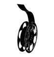 black film on white vector image