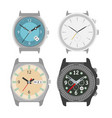 mechanical four watches colorful poster on vector image