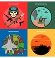 War Icons Set vector image