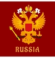 Russian flat doubleheaded imperial eagle vector image