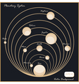 Planetary system vector image