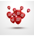 Trendy beautiful background with red baloons and vector image