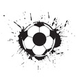 abstract grunge football vector image vector image