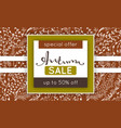 autumn sale discount in fall floral pattern vector image vector image