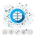 basketball sign icon sport symbol vector image