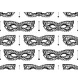 black lace mask seamless pattern vector image